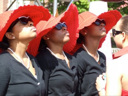 Delta sigma theta sorority members