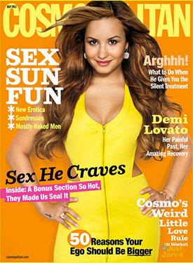 Demi Lovato's photoshopped Cosmo cover