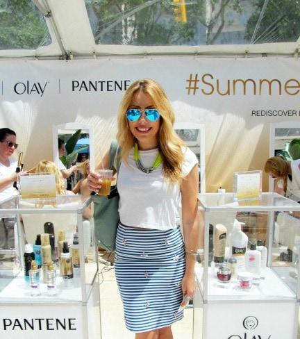 Demi at the #SummerGlowSalon