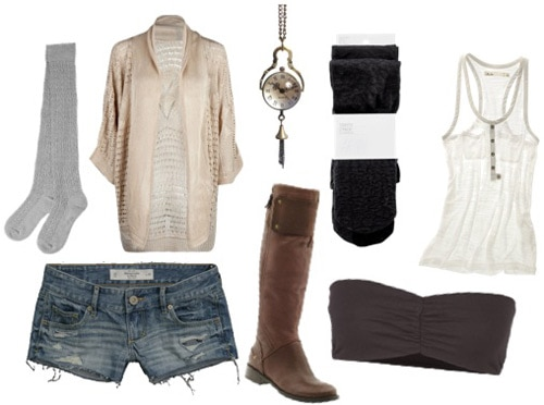 Outfit idea: How to wear denim cutoffs