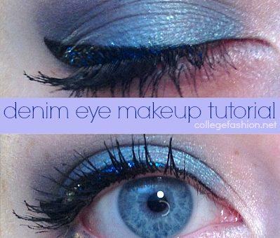 Denim eye makeup tutorial