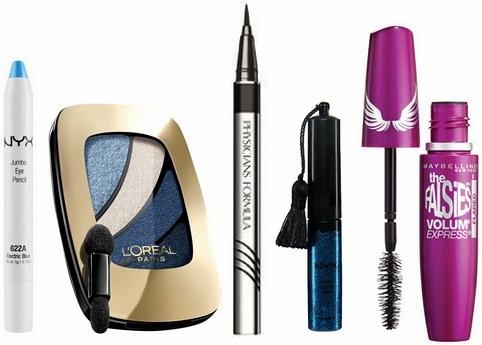 Denim eye makeup tutorial products