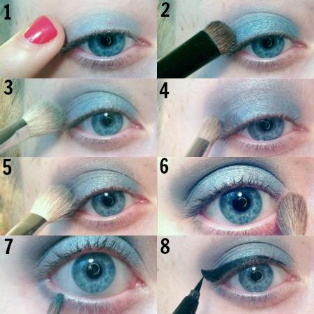 Denim eye step by step tutorial