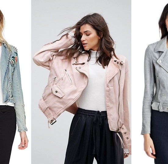 Denim moto jackets