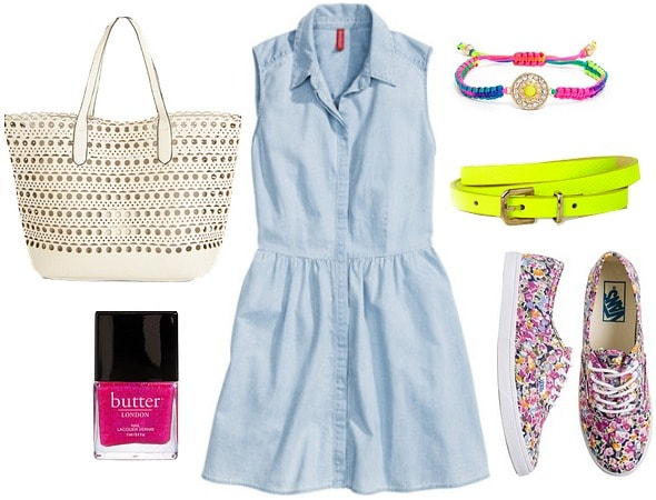 Denim Dress day outfit