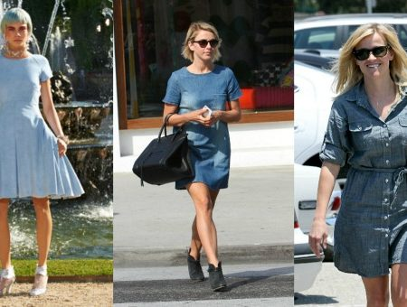 Denim shirtdress trend