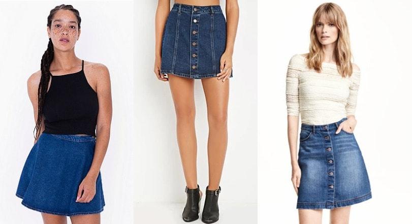 Denim Skirt Collection