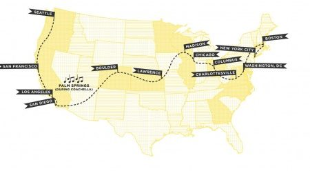 Madewell Denim Road Trip Map