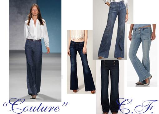 The look for less: Derek Lam denim trousers