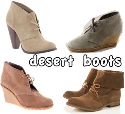 Cute desert boots for fall