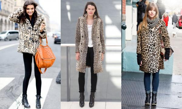 Leopard print coats