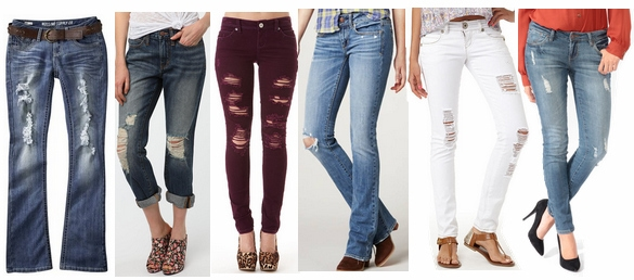Destructed Denim Fall 2012 Denim Trend