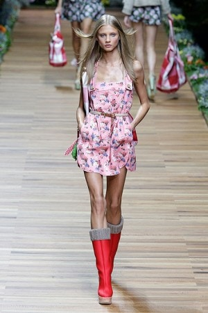 D&G Floral Romper and Wellies