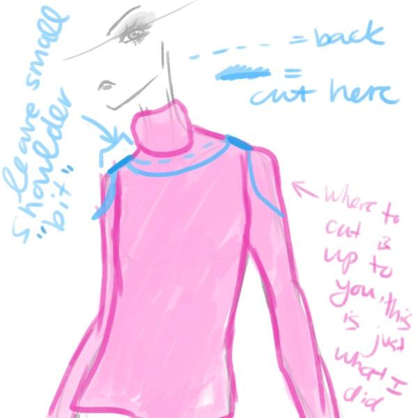 Diagram Step One DIY Sweater