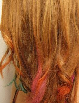 Dip dye ends hairstyle