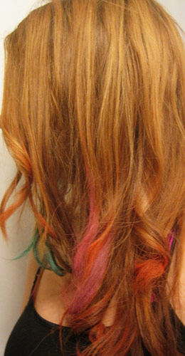 Dip dye ends hairstyle