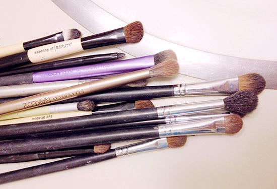 Dirty makeup brushes