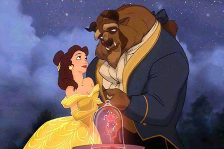 Belle and the Beast from Walt Disney's Beauty and the Beast