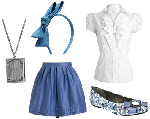 Blue outfit inspired by Walt Disney's Belle from Beauty and the Beast