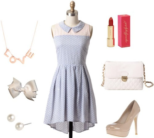 Fashion inspired by Disney's Paperman: Outfit 2