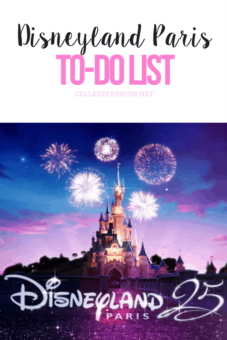 Disneyland Paris to-do list