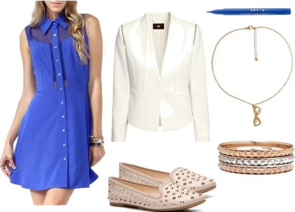 Divergent-Erudite-Blue-Paneled-Dress