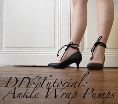DIY ankle wrap pumps