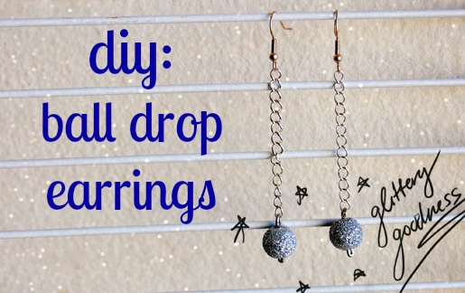 Diy ball drop earrings