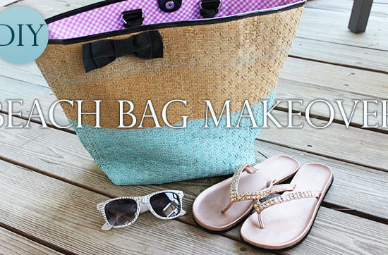 DIY Beach Bag Makeover - re-make an old beach bag with a cool dip-dye look
