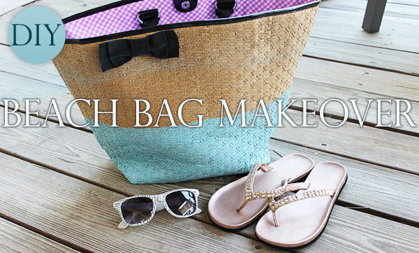 DIY Beach Bag Makeover - re-make an old beach bag with a cool dip-dye look