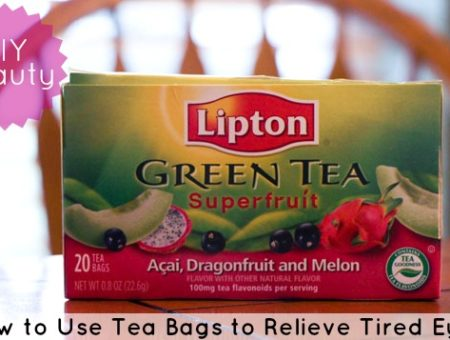 DIY Beauty: Using tea bags to relieve tired eyes