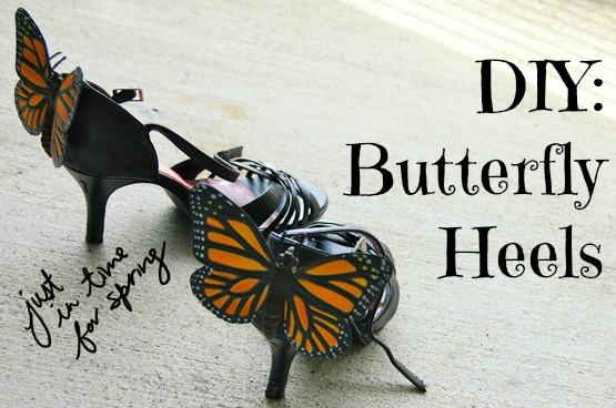 Diy butterfly heels