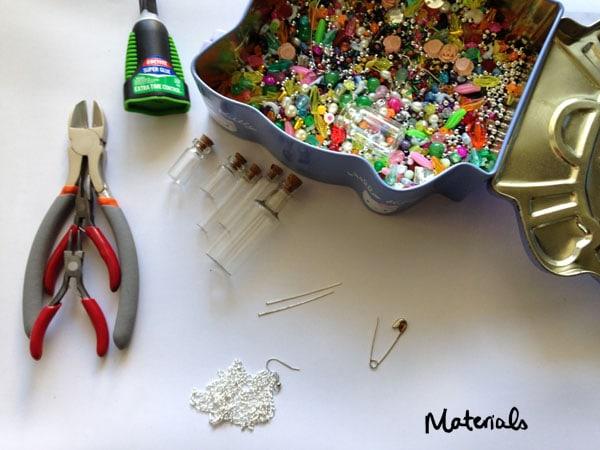 Diy corked vial pendants materials