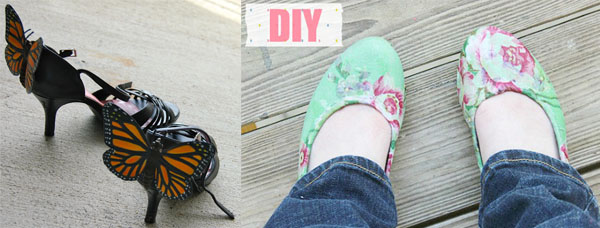 Diy costume fairy shoes