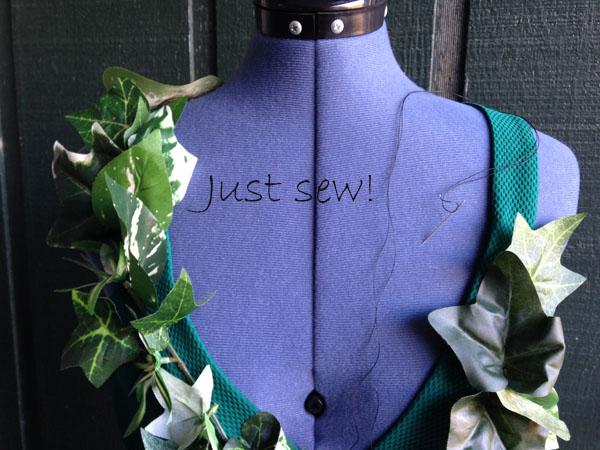 Diy costume poison ivy just sew