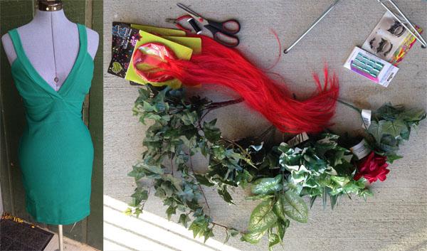 Diy costume poison ivy materials