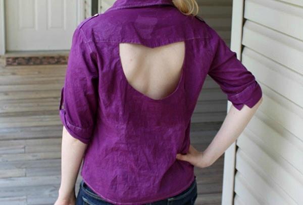 Diy cut out blouse final look