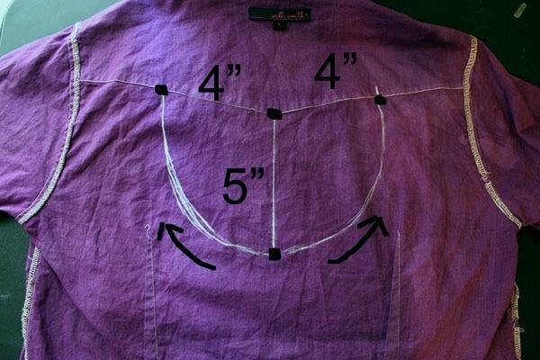 Diy cut out blouse step 1 part 2