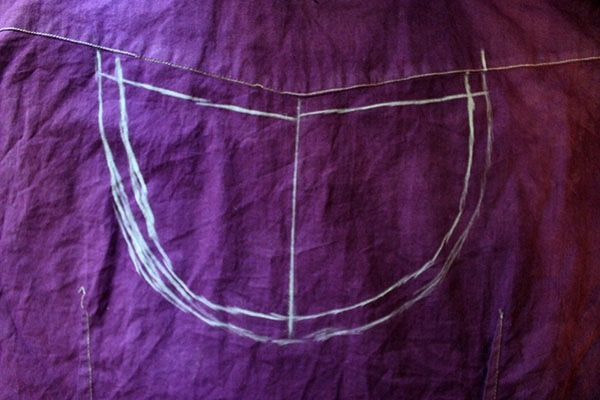 Diy cut out blouse step 2 part 1