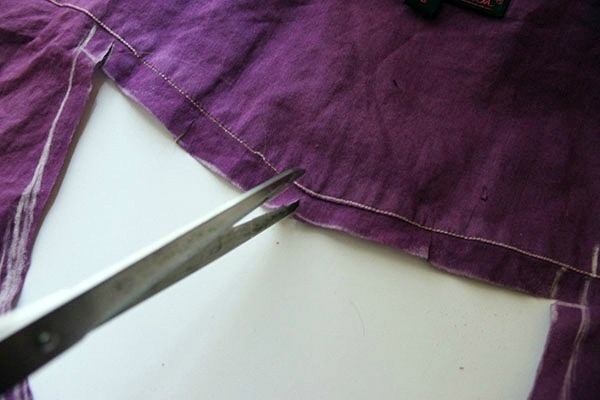Diy cut out blouse step 3 part 1