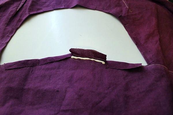 Diy cut out blouse step 4