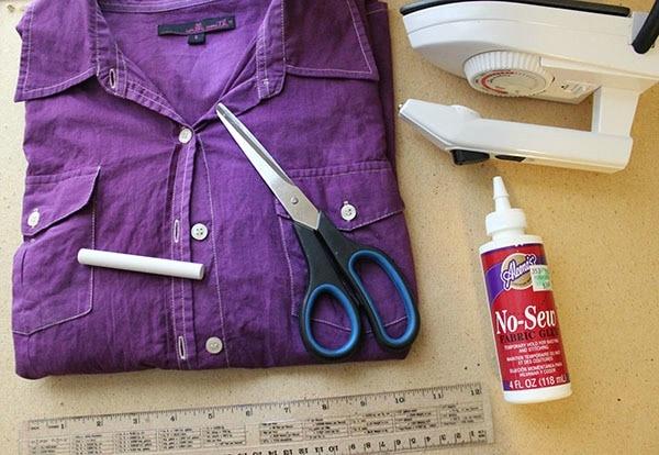 Diy cut out blouse supplies
