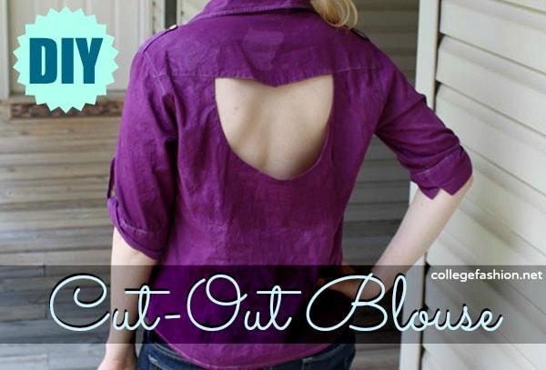 DIY cut out blouse