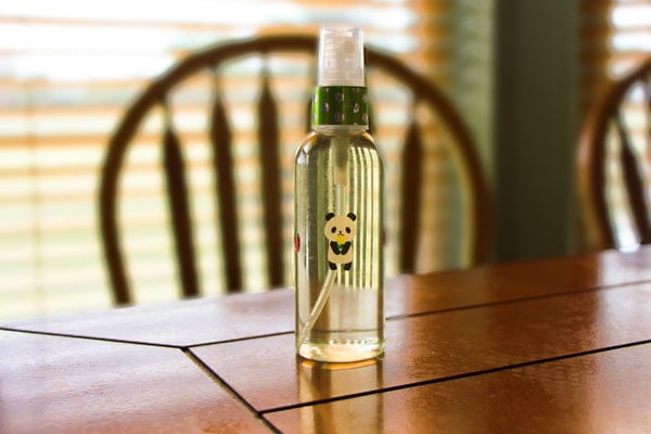 DIY facial mist finished