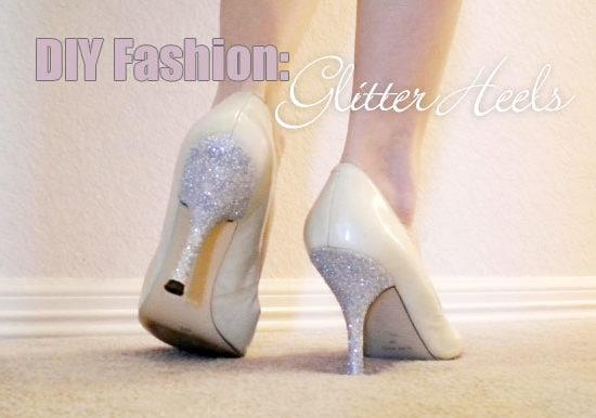 Diy fashion: glitter heels