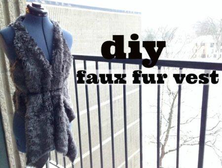 Diy faux fur vest