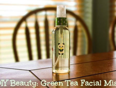 Diy green tea facial mist