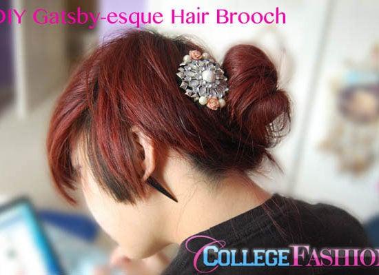 DIY Gatsby-esque hair brooch