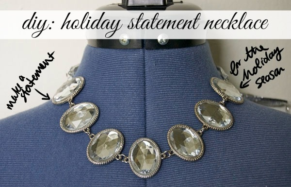 DIY holiday statement necklace