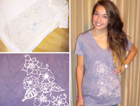 DIY Inverted Dye T Shirt